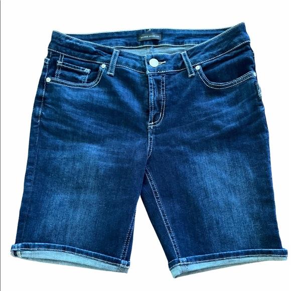 Silver Jean Shorts Suki Bermuda